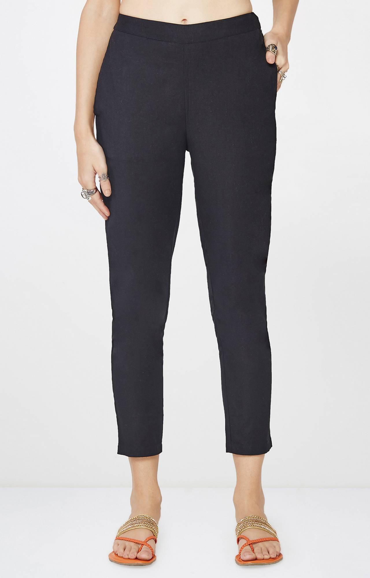 Global Desi   Black Cropped Trousers