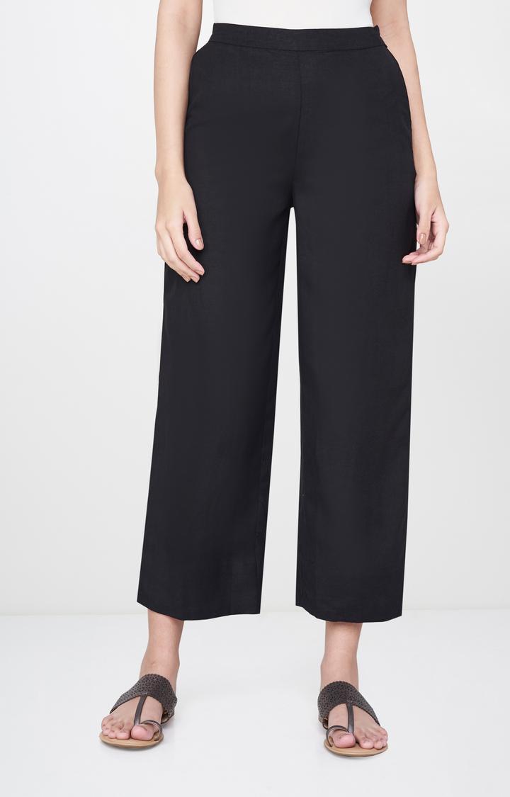 Global Desi | Black Solid Culottes