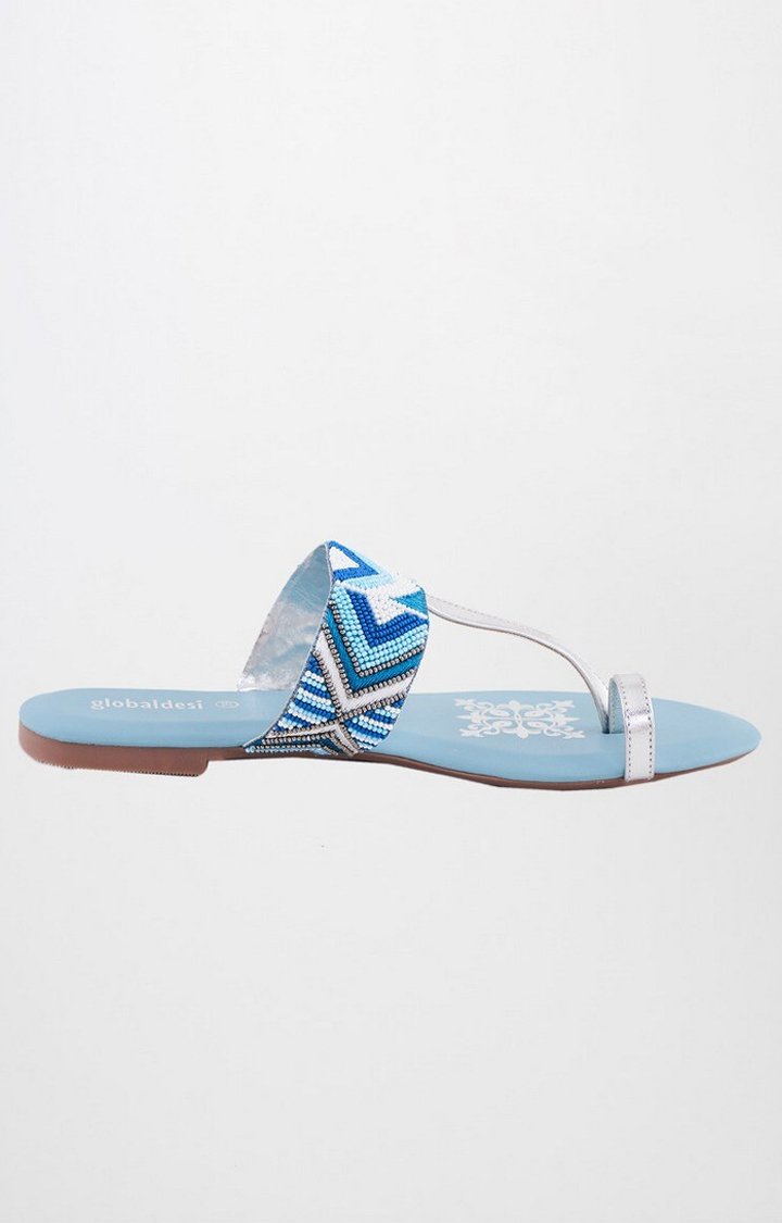 Global Desi | Blue Ethnic Sandals