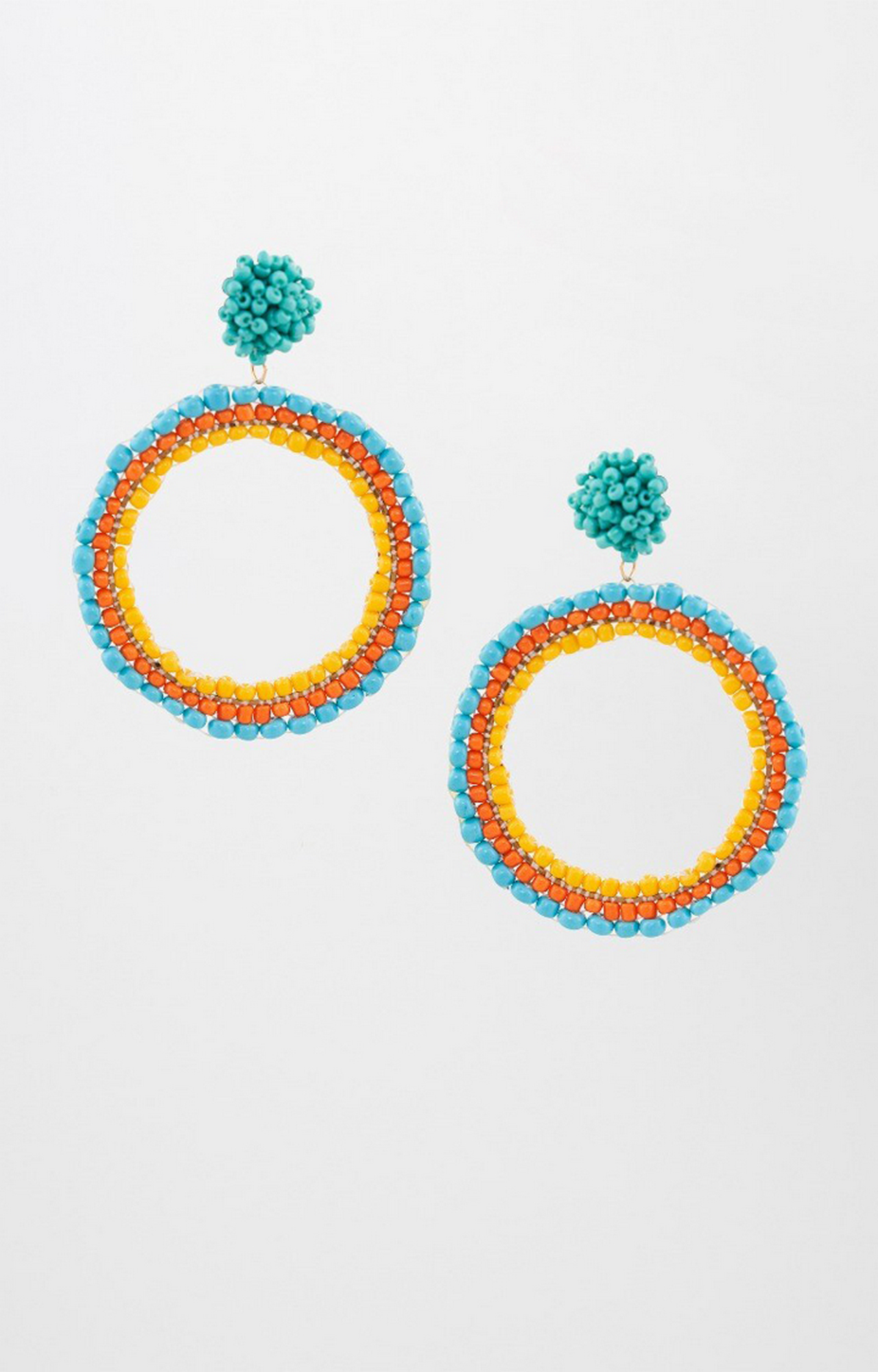 Global Desi   Blue Dangle and Drop Earrings