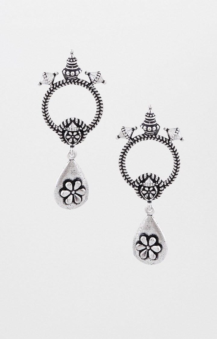 Global Desi | Silver Dangle and Drop Earrings