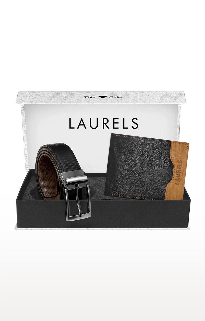 Laurels | Black Wallet and Belt Combo