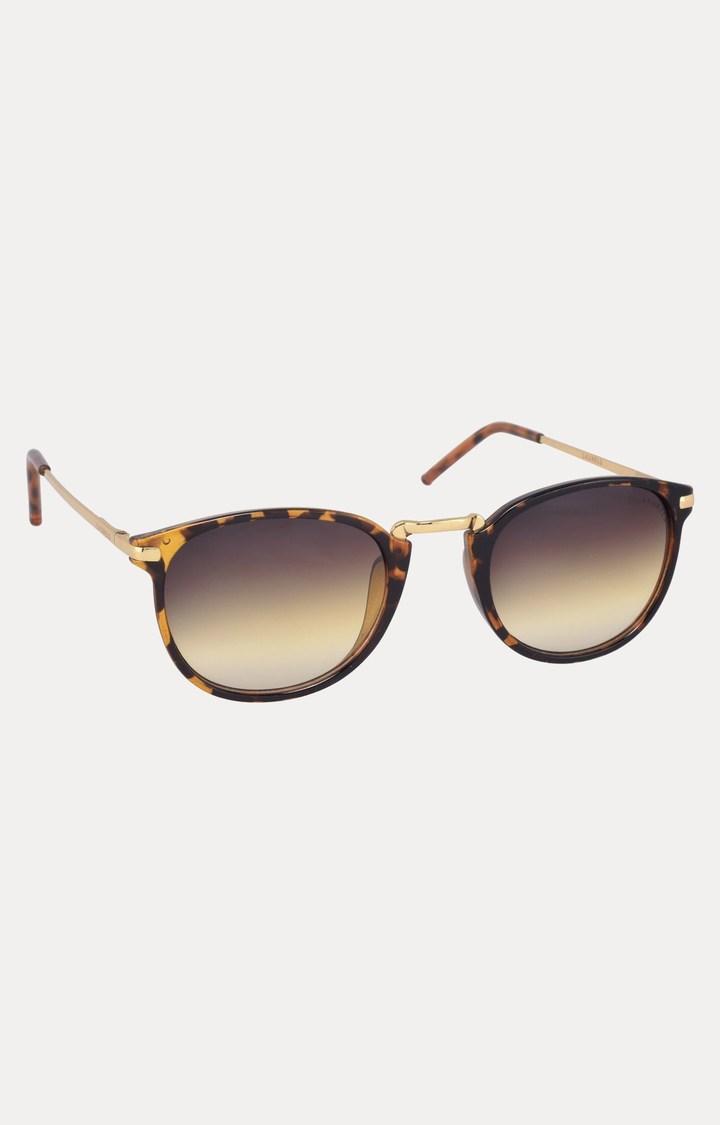 Laurels   Brown Oval Sunglasses