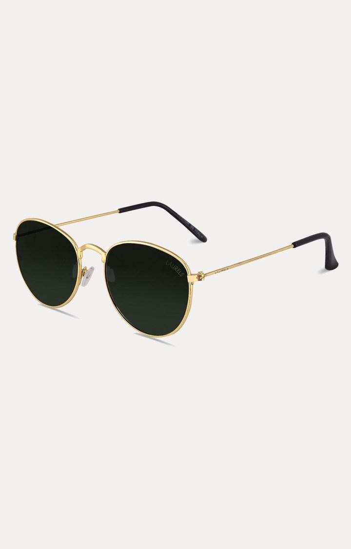 Laurels   Gold Oval Sunglasses
