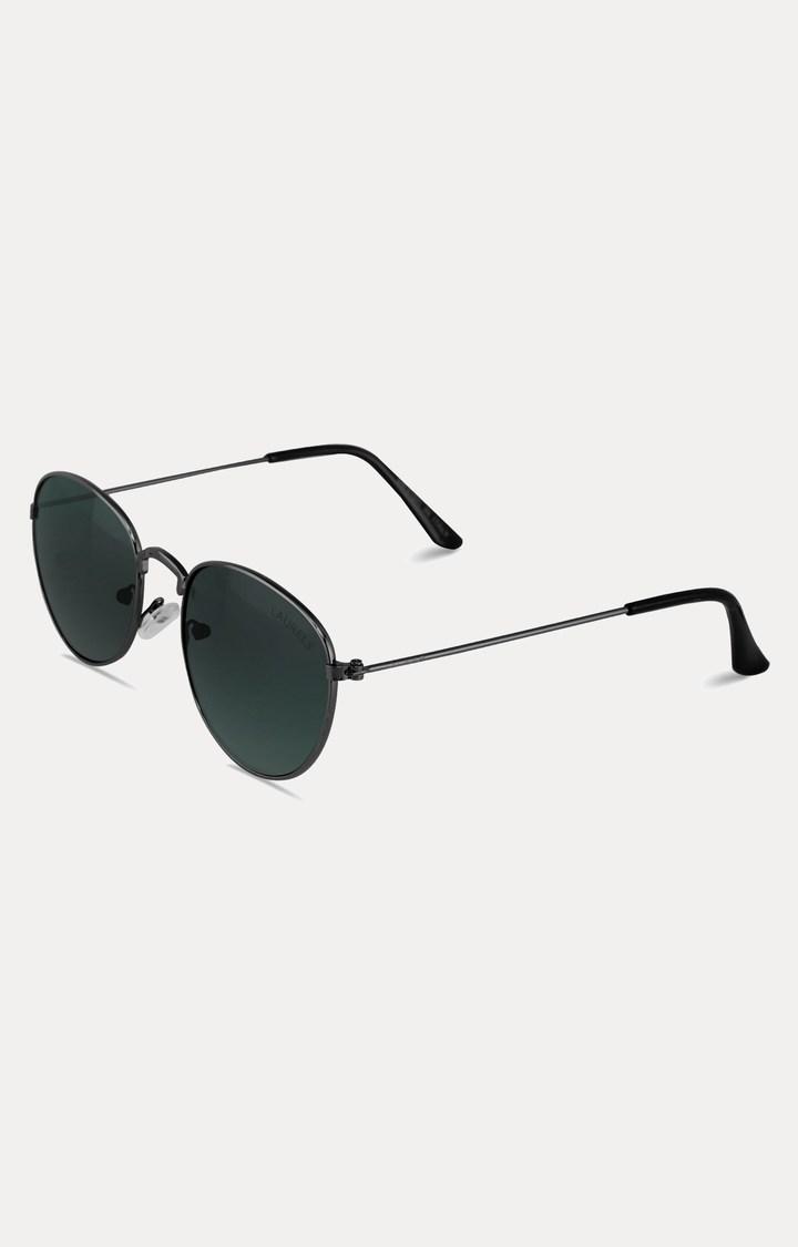 Laurels   Dark Grey Oval Sunglasses