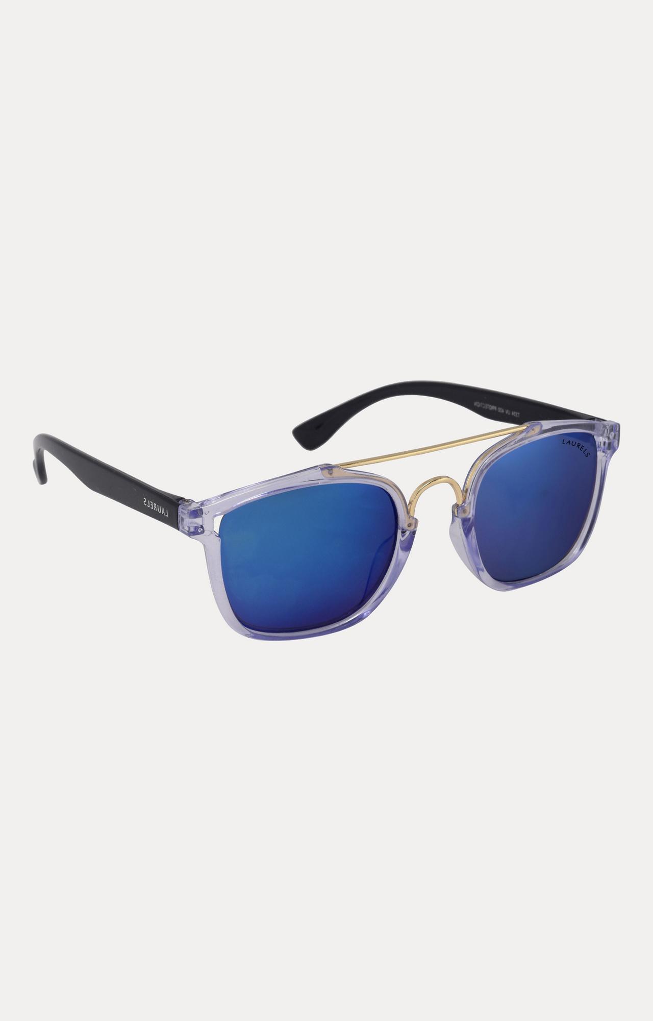 Laurels | Black and Clear Square Sunglasses