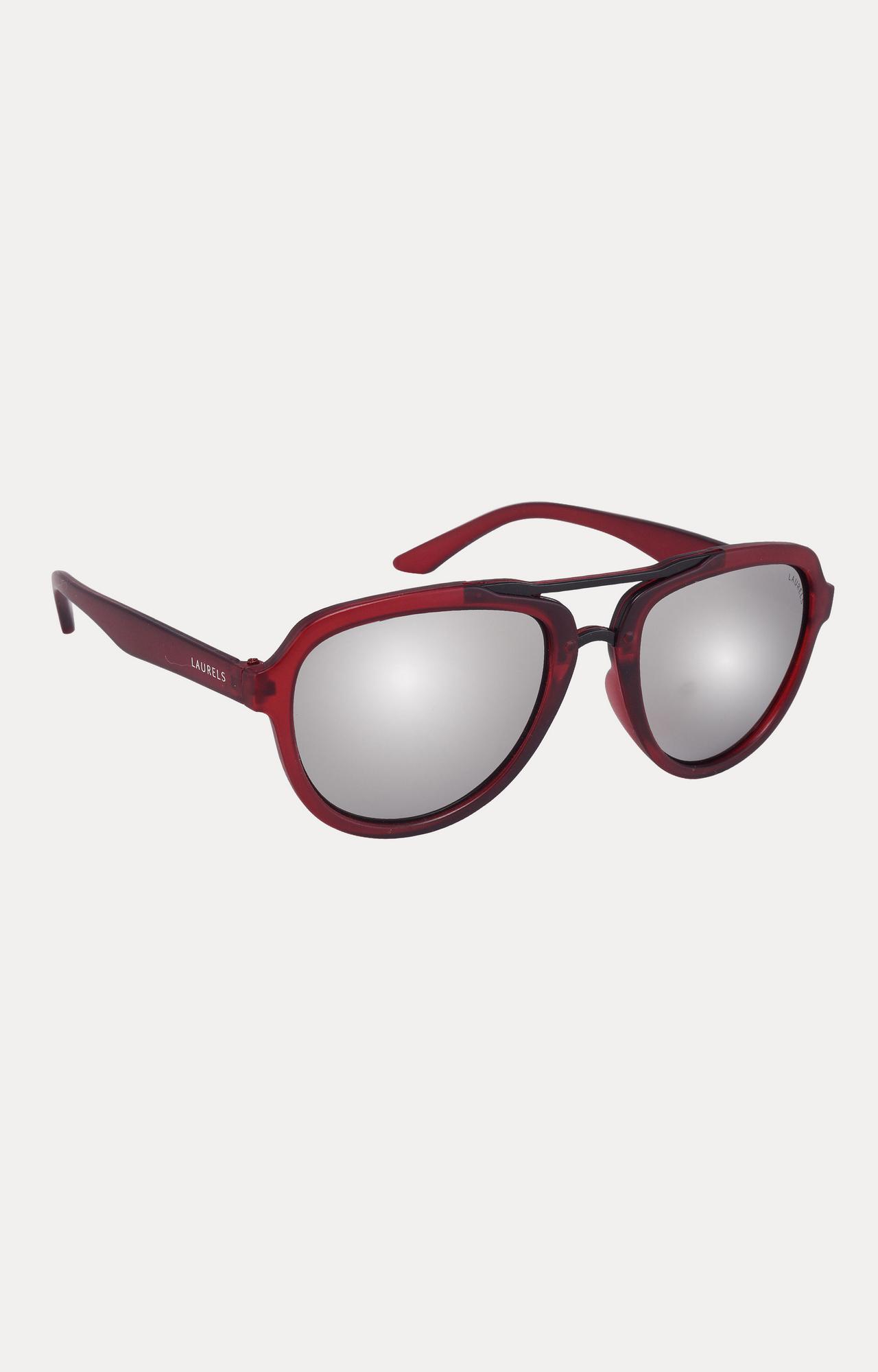 Laurels | Red Round Sunglasses