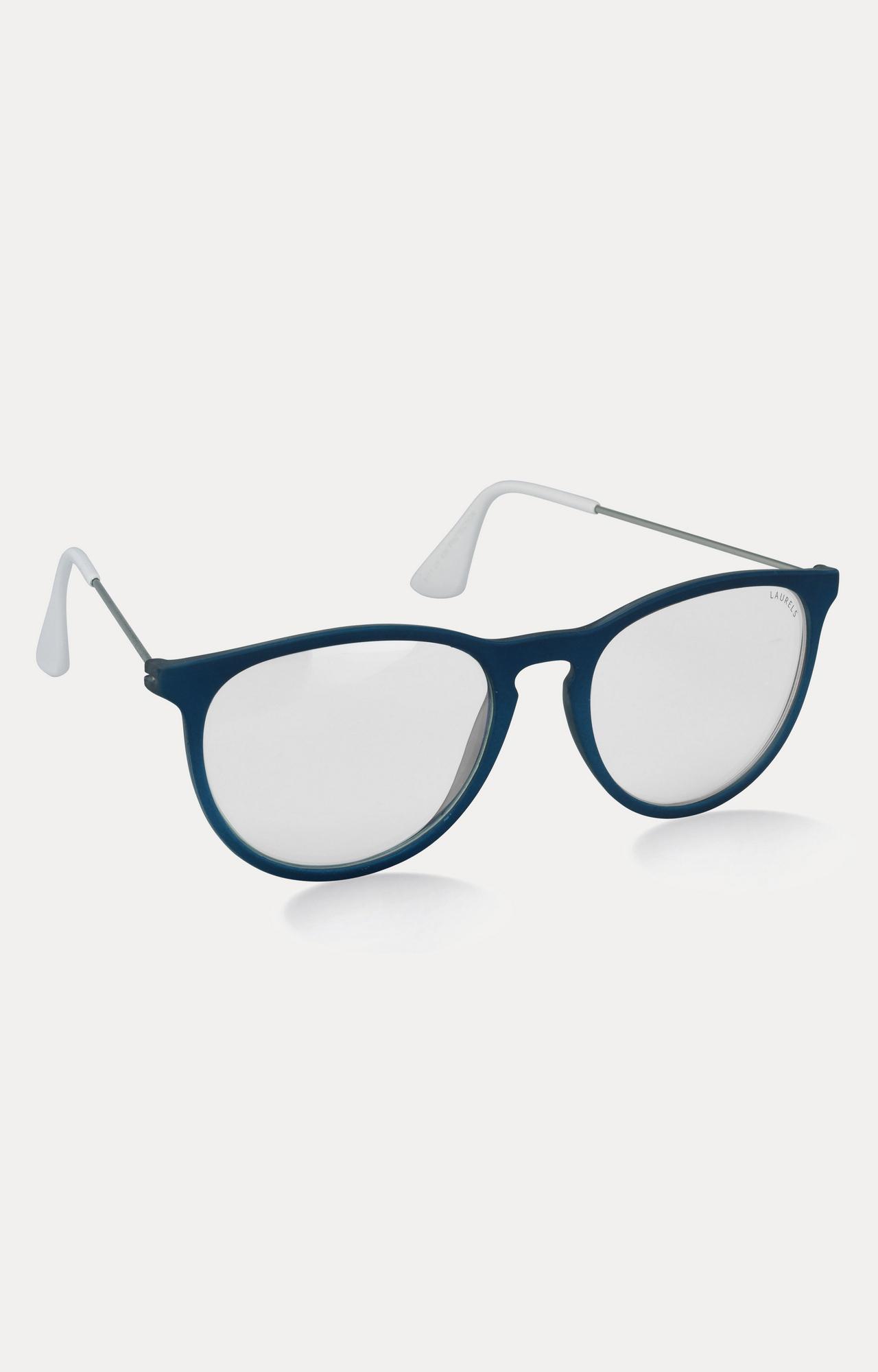Laurels | Blue Round Sunglasses