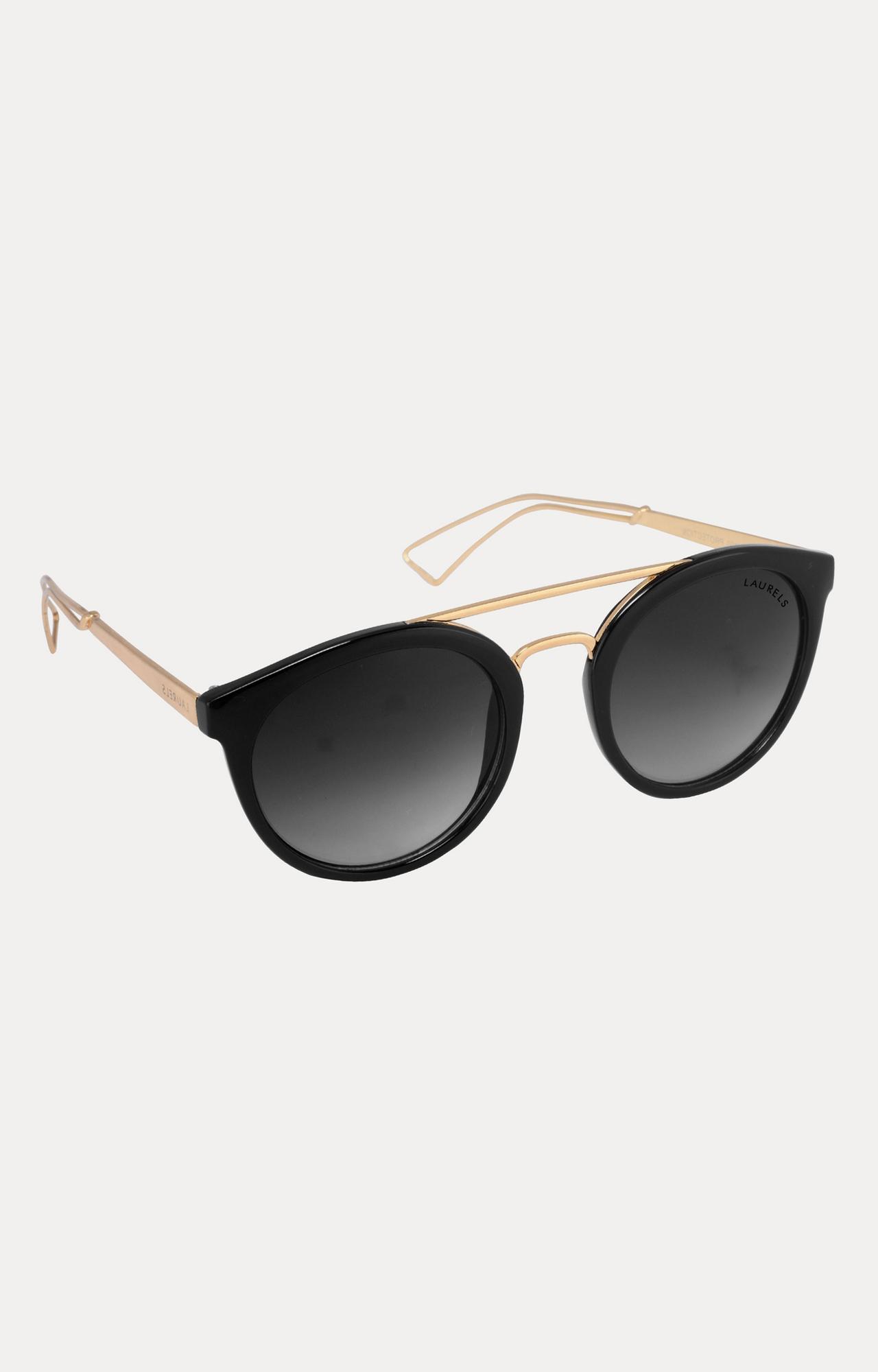 Laurels | Golden Round Sunglasses
