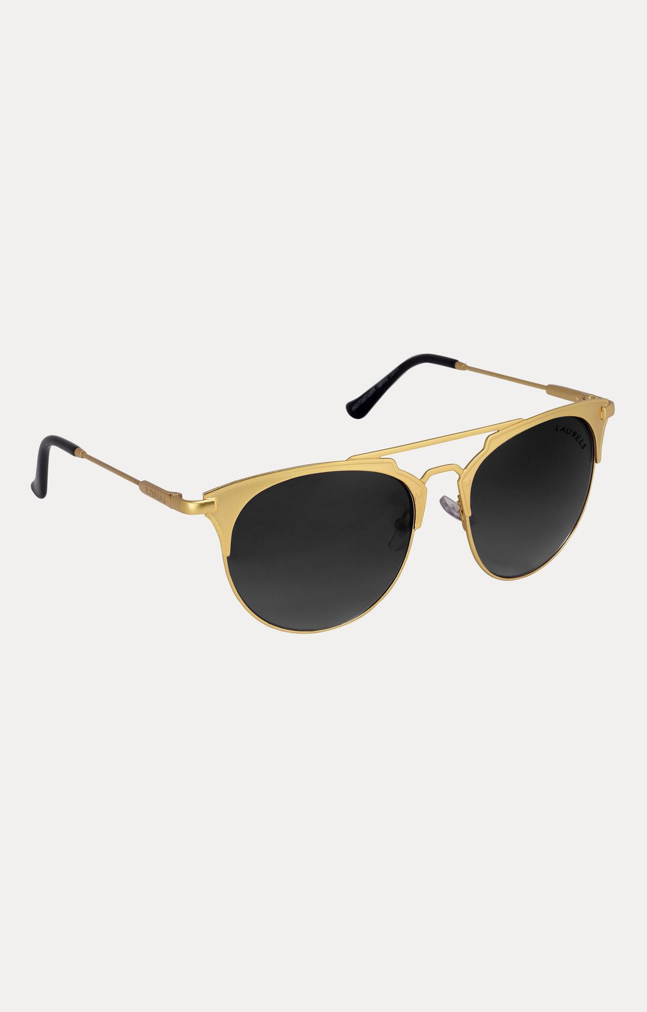 Laurels | Gold Round Sunglasses