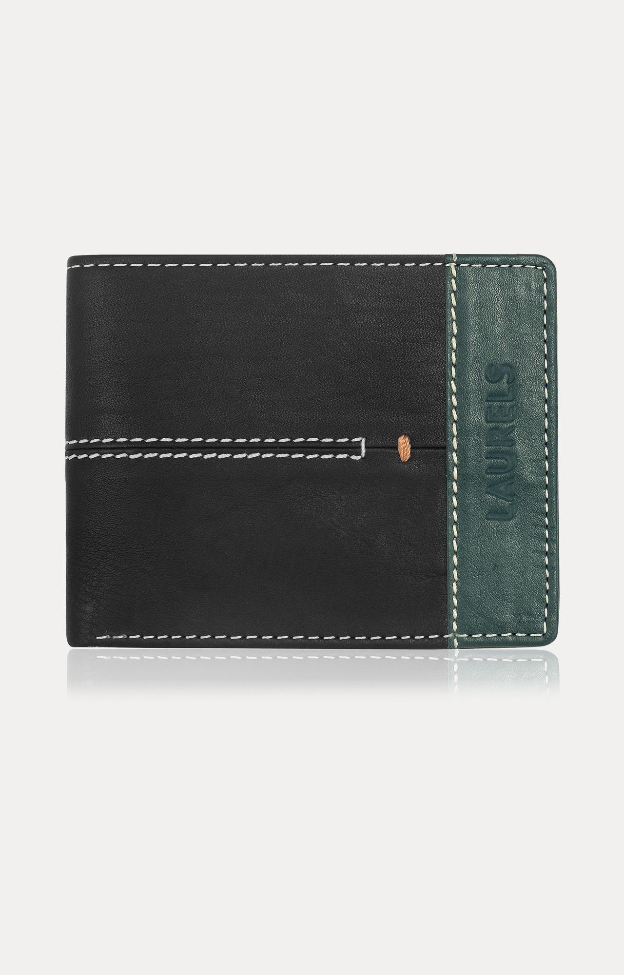 Laurels   Green and Black Wallet