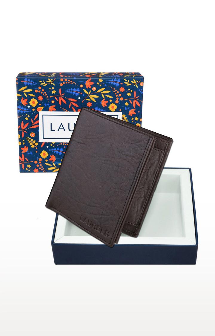 Laurels   Brown Wallet