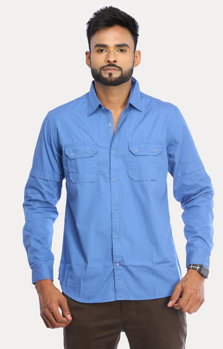RED CHIEF | Royal Blue Solid Casual Shirt
