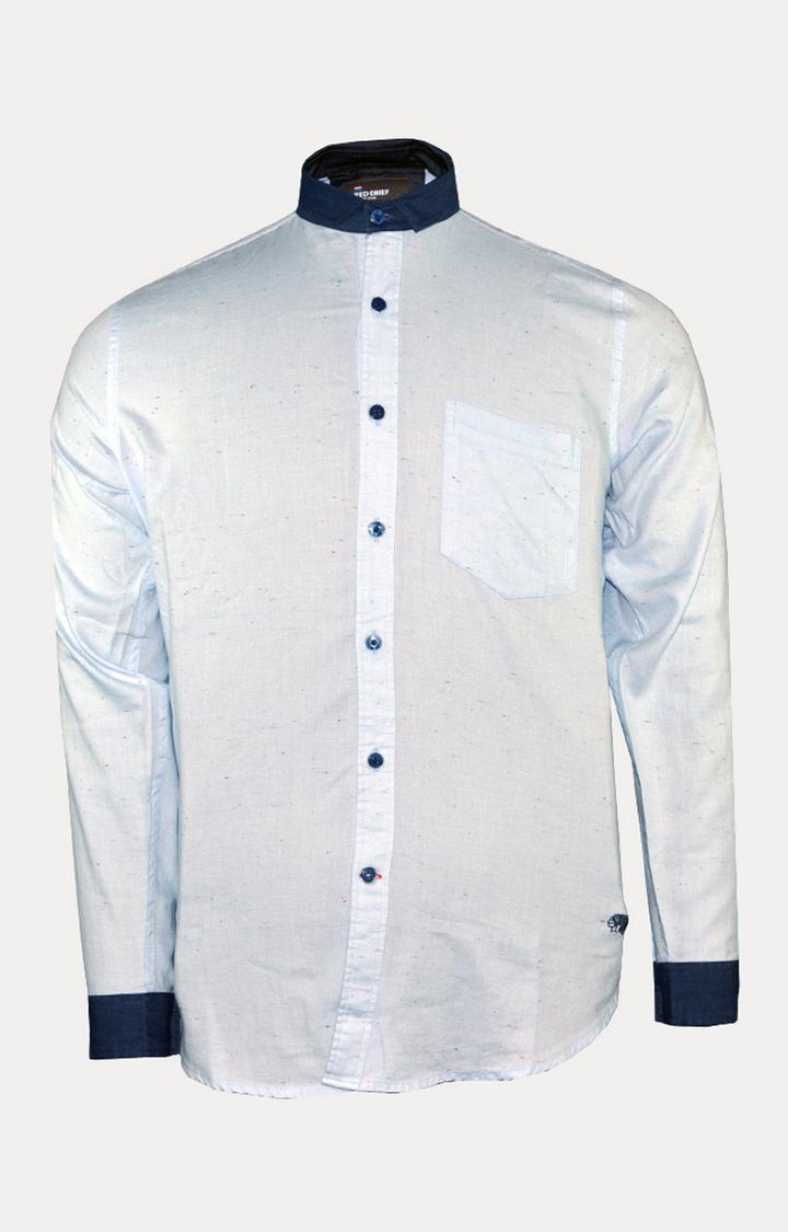 RED CHIEF | Sky Blue Melange Casual Shirt
