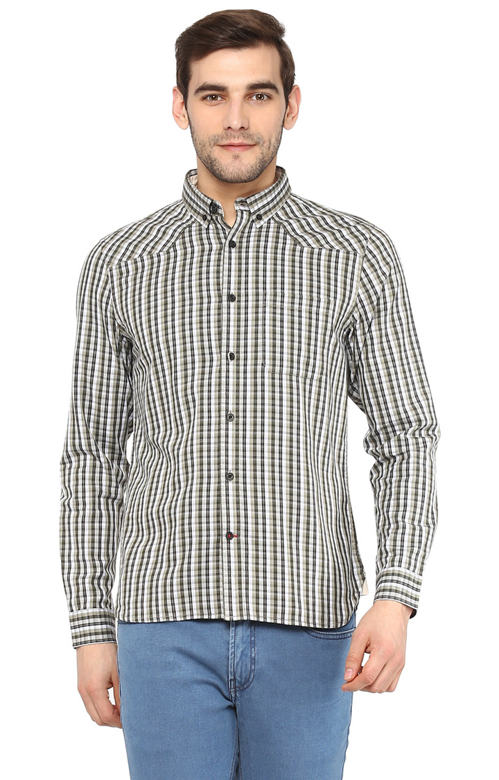 RED CHIEF   Brown Checked Casual Shirt
