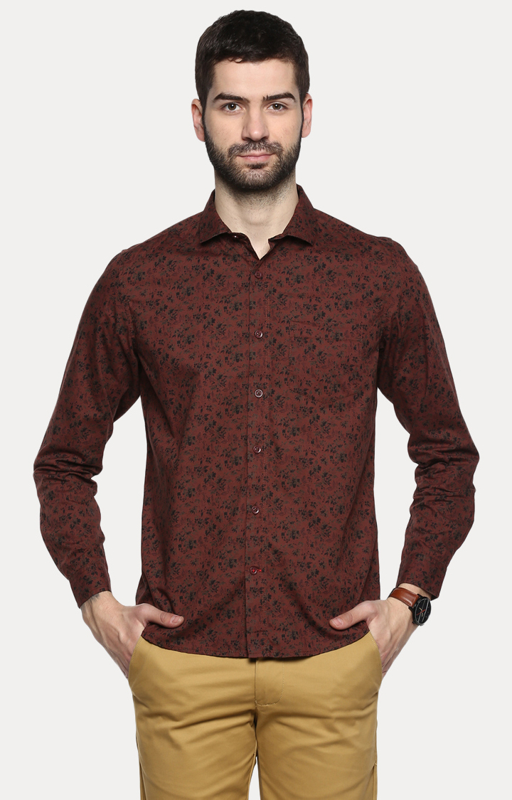 RED CHIEF   Brown Camouflage Casual Shirt