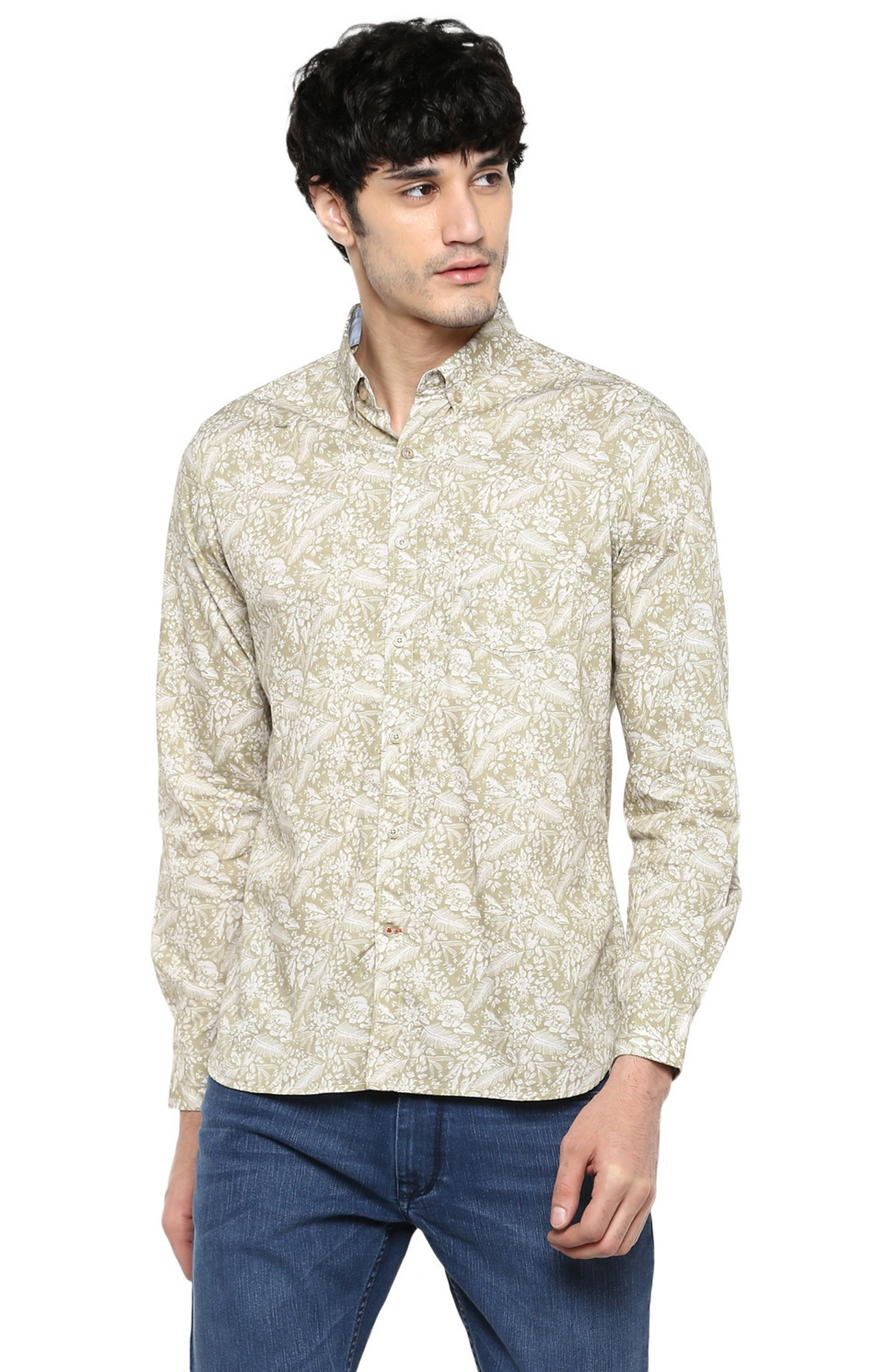 RED CHIEF   Brown Printed Casual Shirt