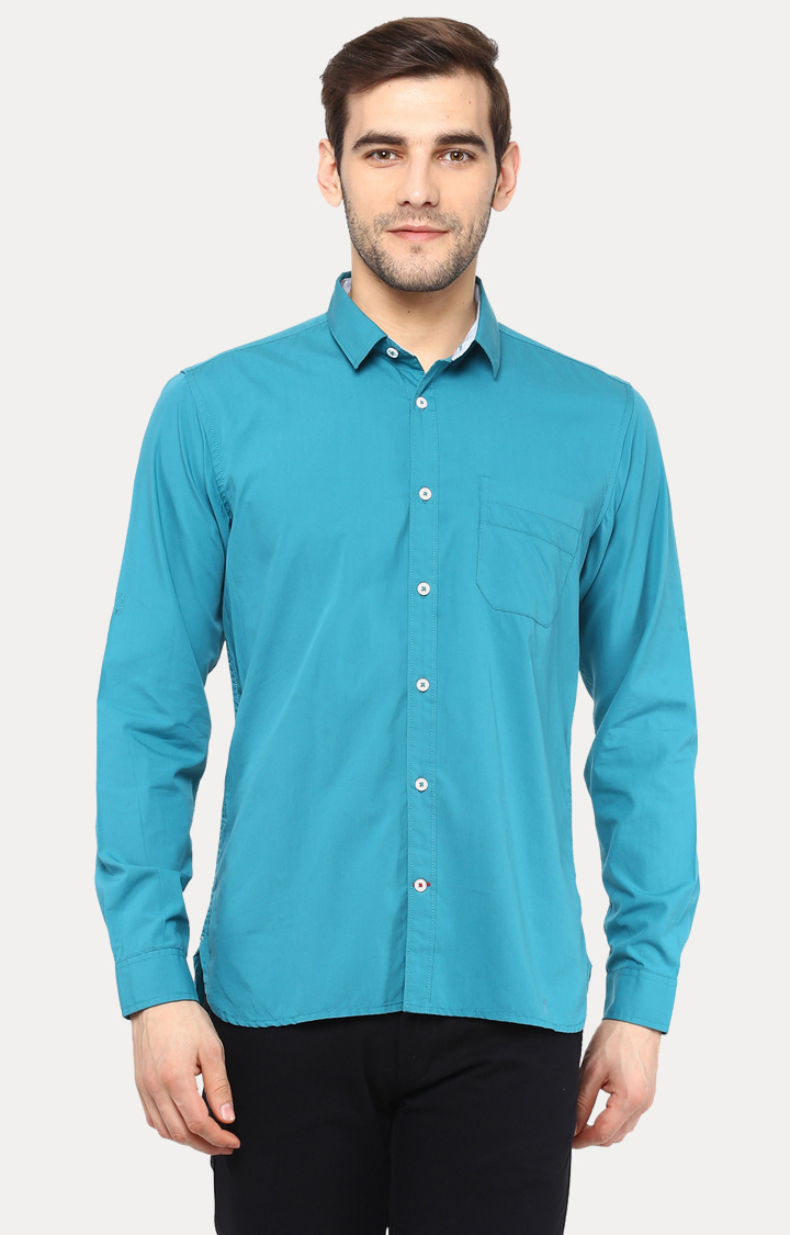 RED CHIEF | Teal Solid Casual Shirt