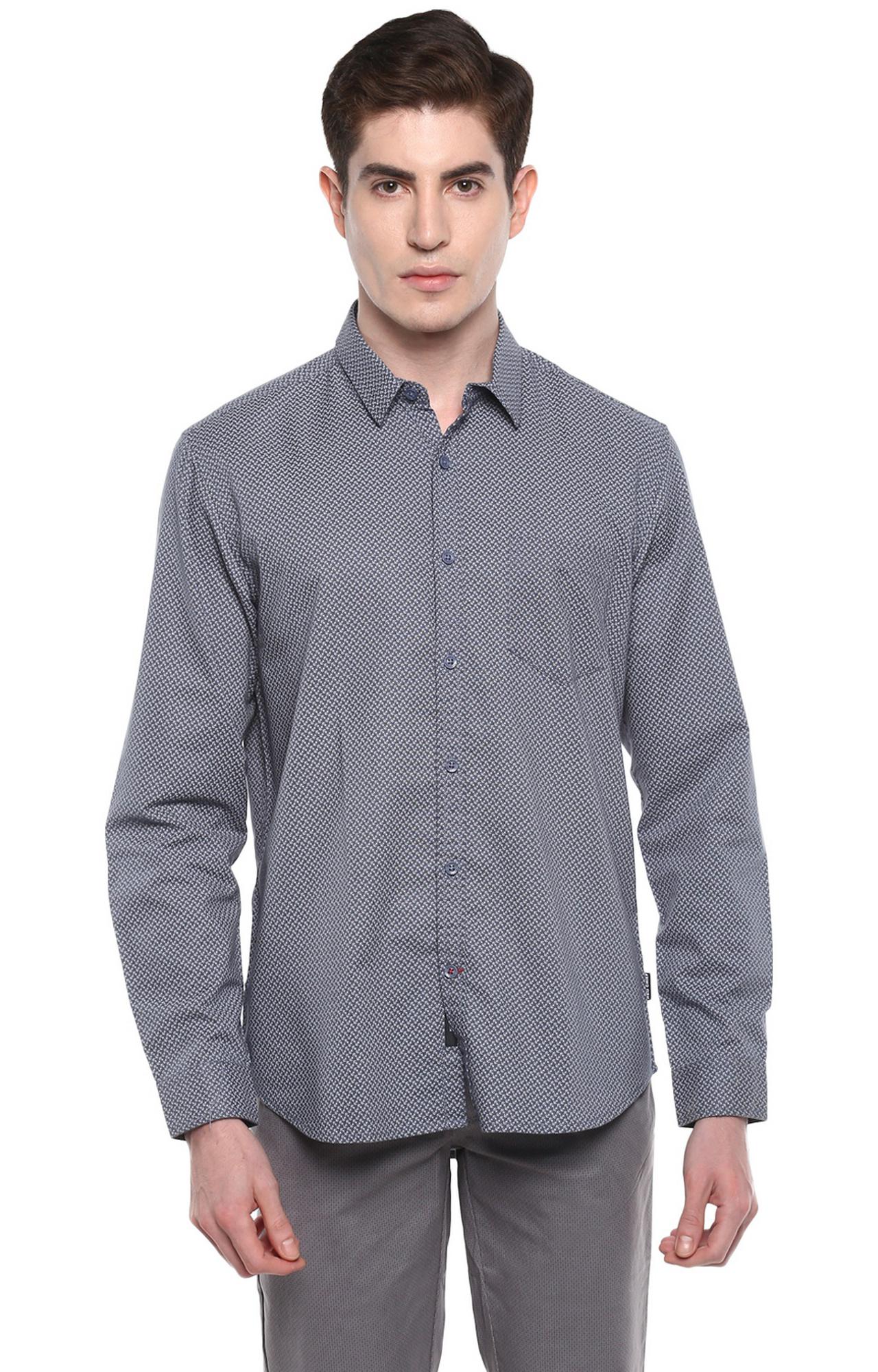 RED CHIEF | Grey Printed Casual Shirt