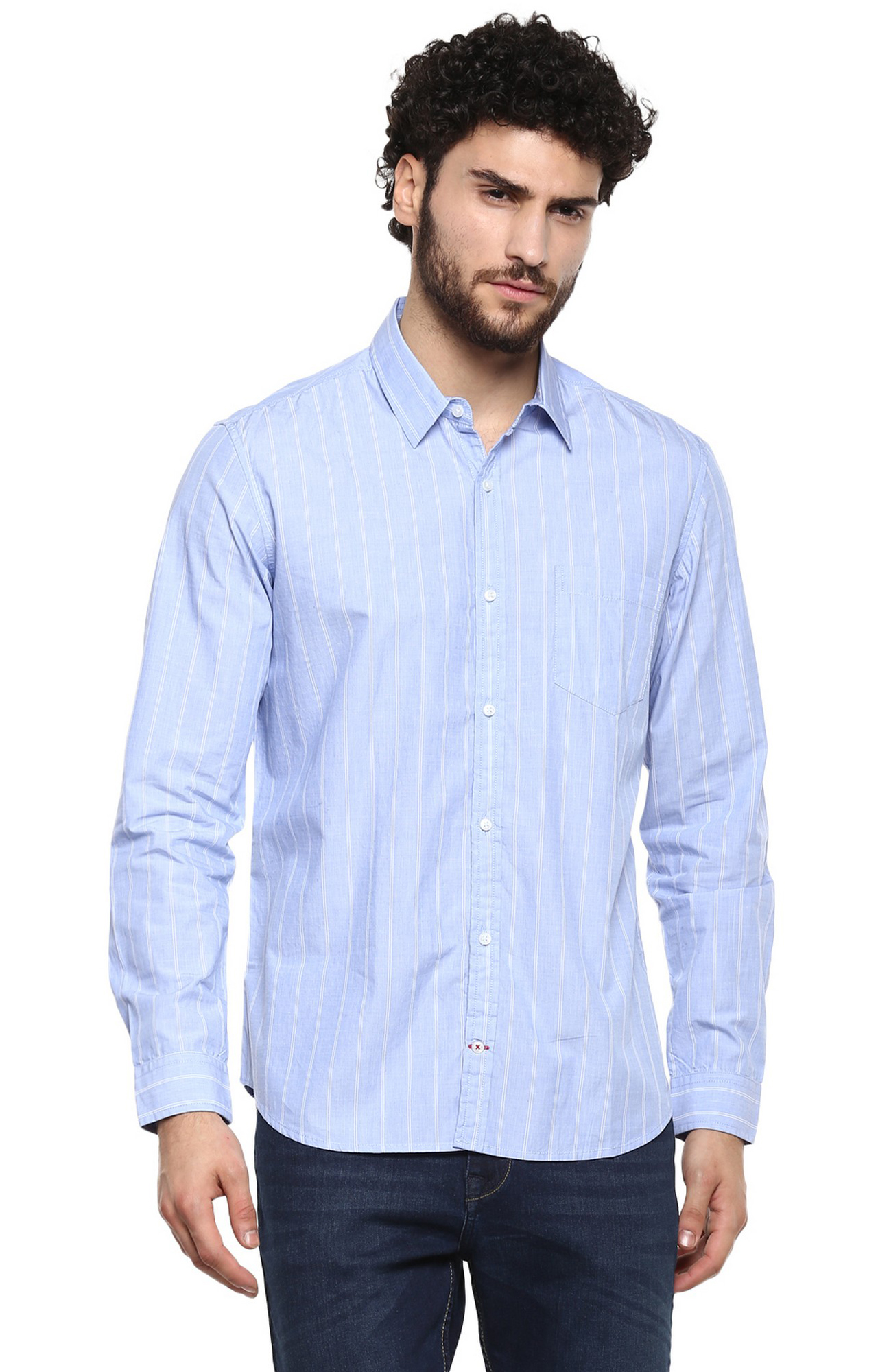 RED CHIEF | Blue Striped Casual Shirt