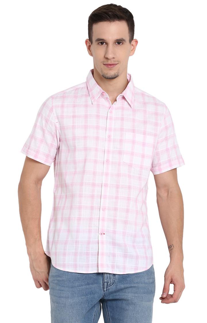 RED CHIEF | Pink Checked Casual Shirt