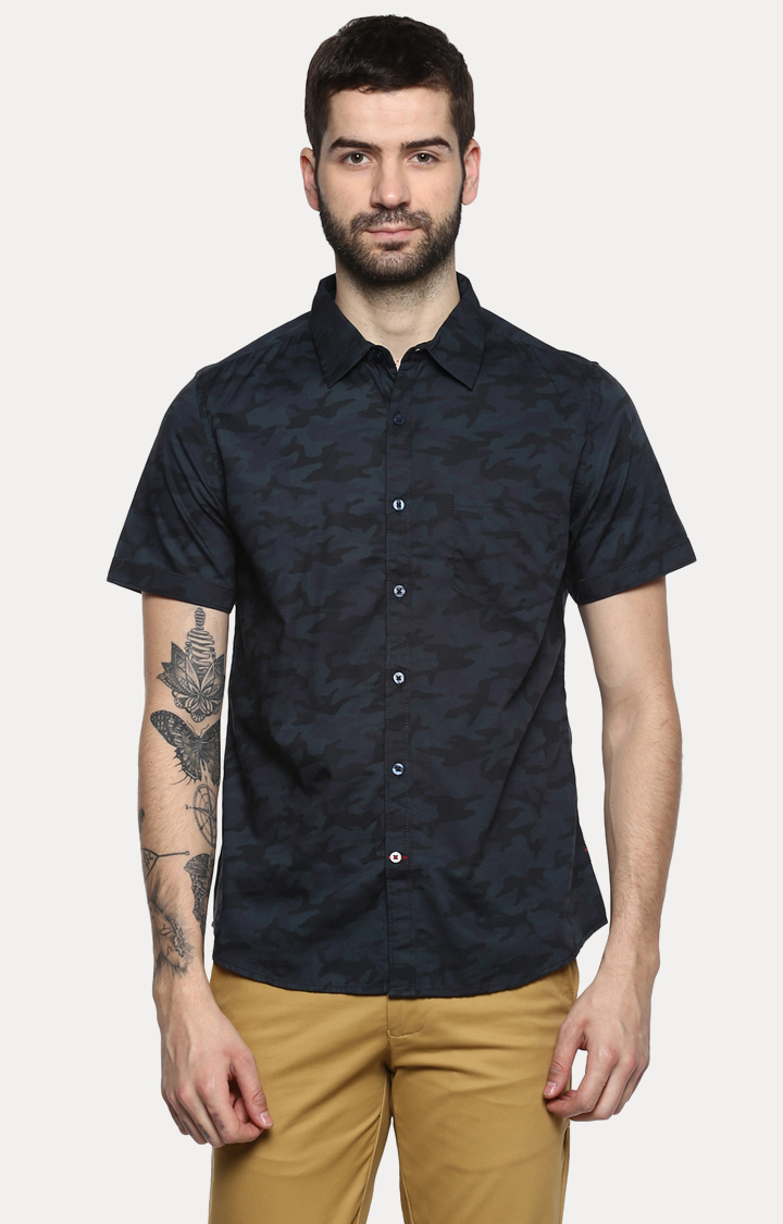RED CHIEF | Navy Printed Casual Shirt