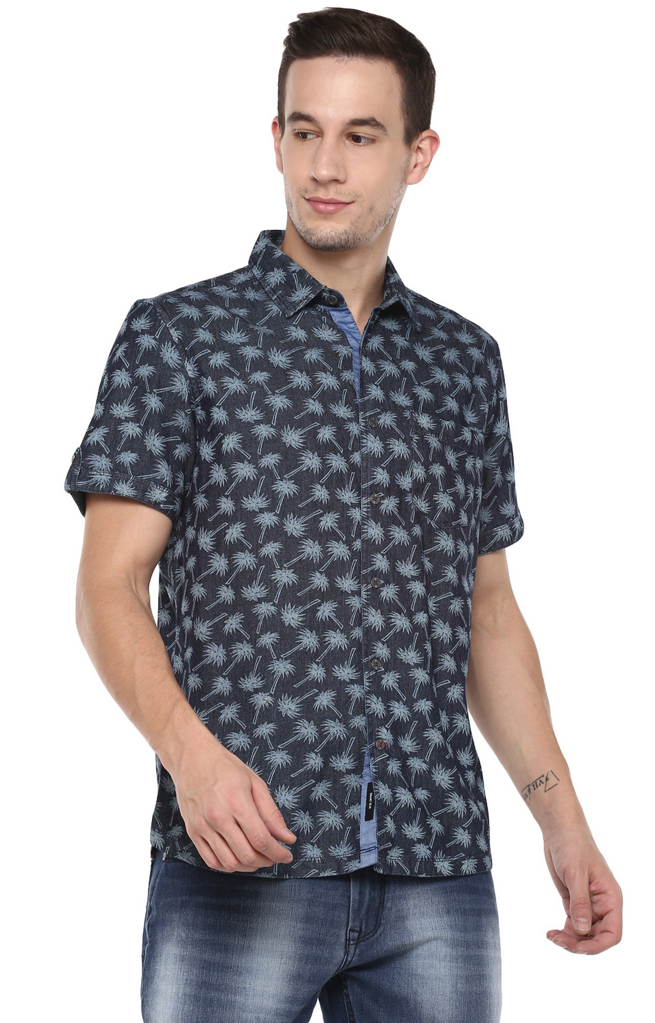 RED CHIEF | Blue Printed Casual Shirt