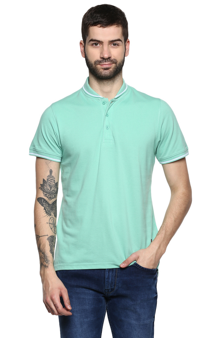 RED CHIEF | Green Solid T-Shirt