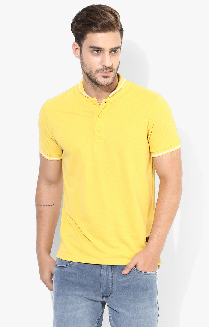 RED CHIEF | Yellow Solid T-Shirt