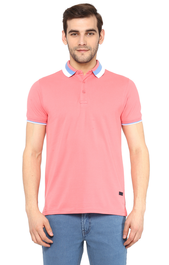 RED CHIEF | Pink Solid Polo T-Shirt