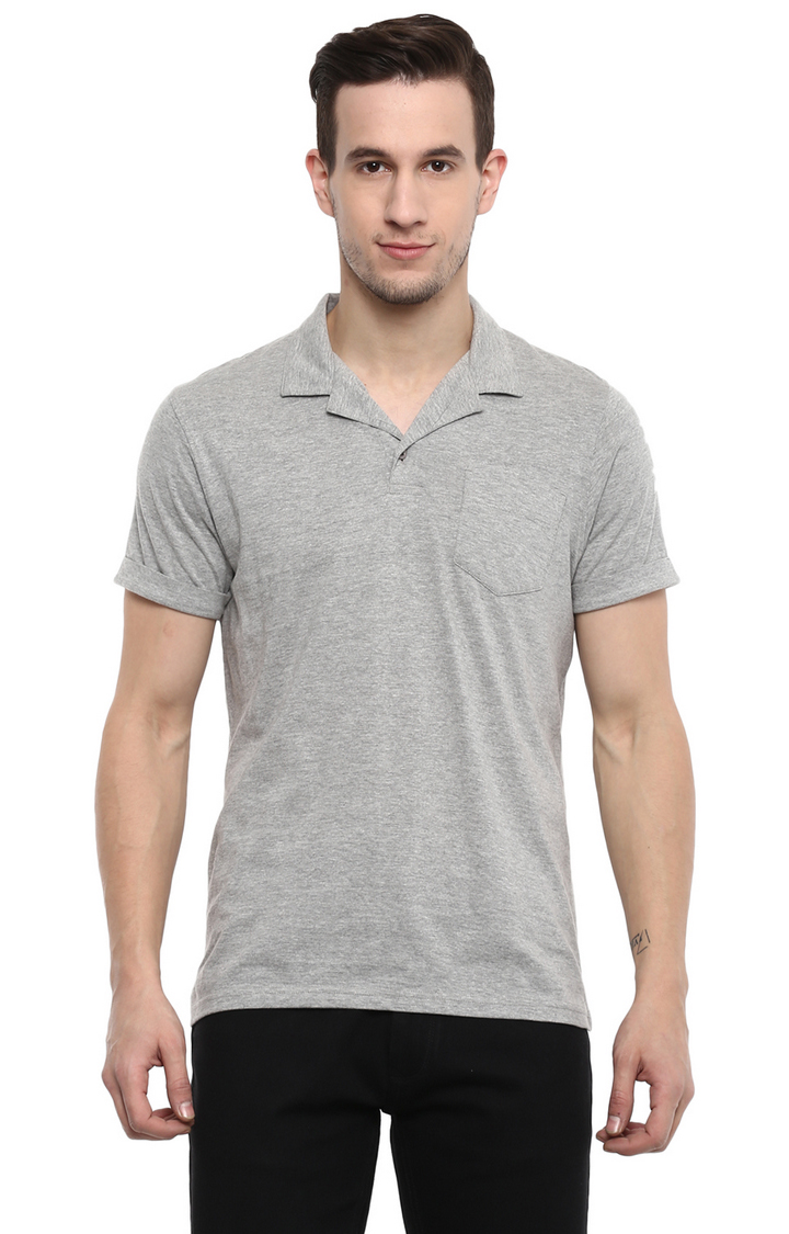 RED CHIEF | Grey Melange Polo T-Shirt