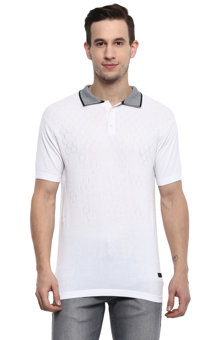 RED CHIEF | White Solid Polo T-Shirt