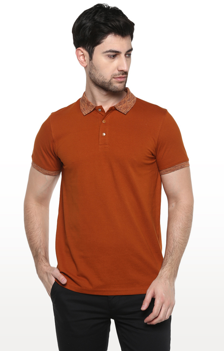 RED CHIEF   Brown Solid T-Shirt