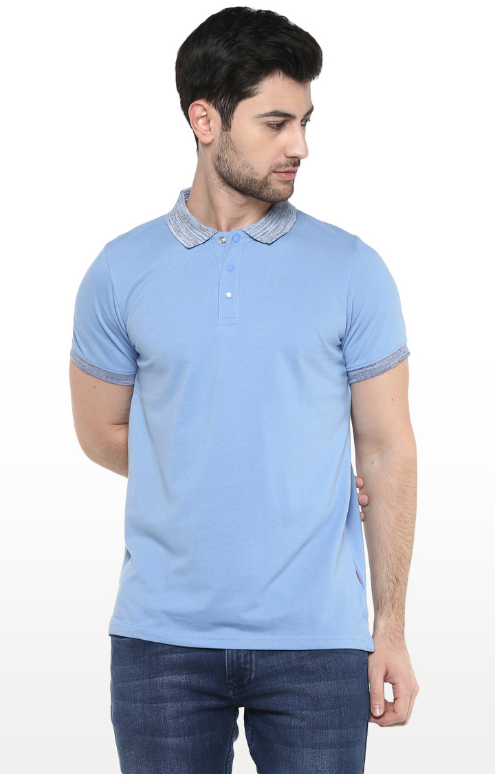 RED CHIEF   Sky Blue Solid T-Shirt