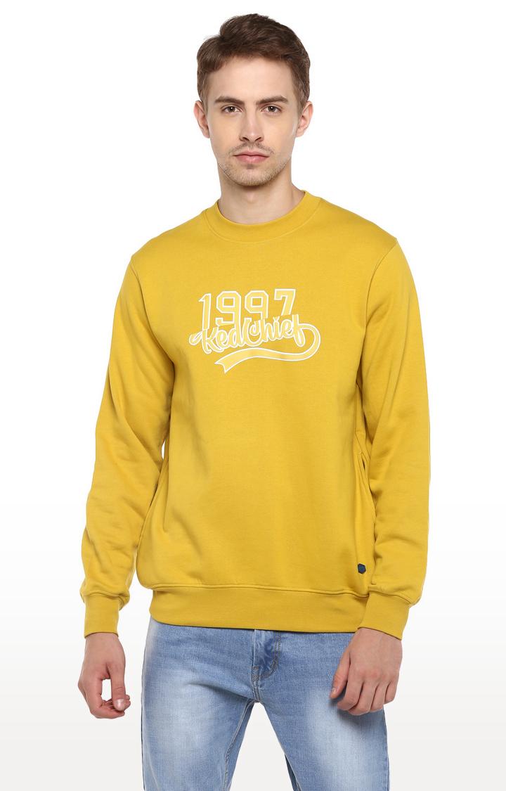 RED CHIEF   Yellow Printed Sweatshirt