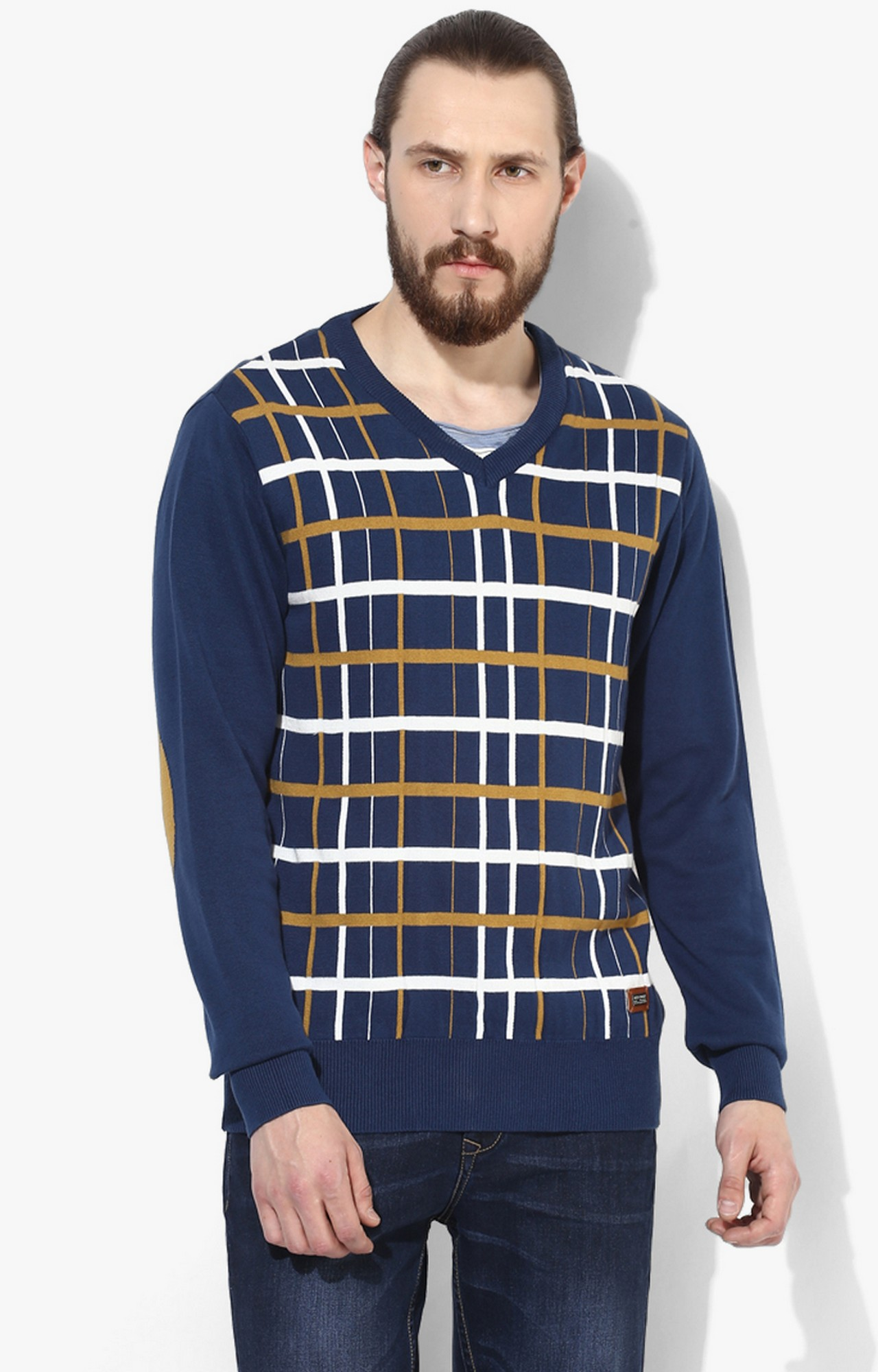 RED CHIEF | Blue Checked Sweater