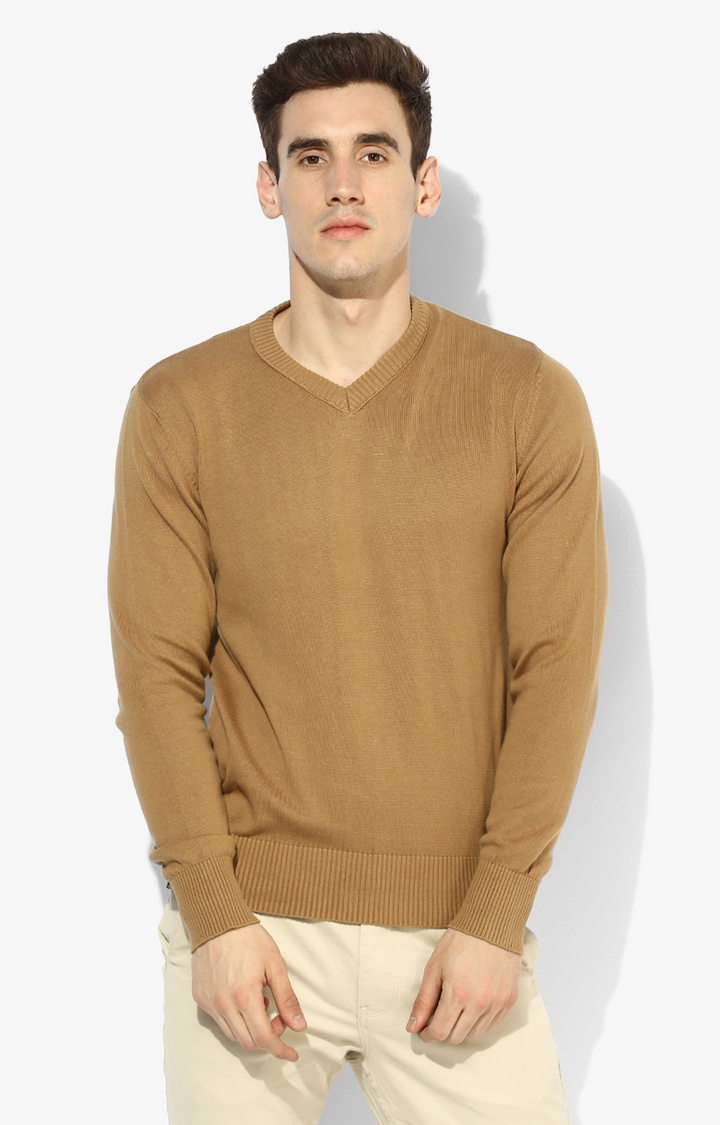 RED CHIEF | Fawn Solid Sweater