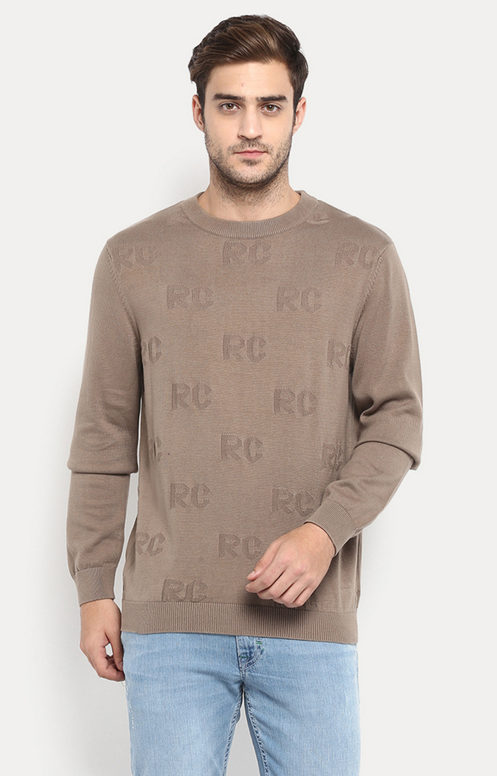 RED CHIEF   Brown Solid Sweater