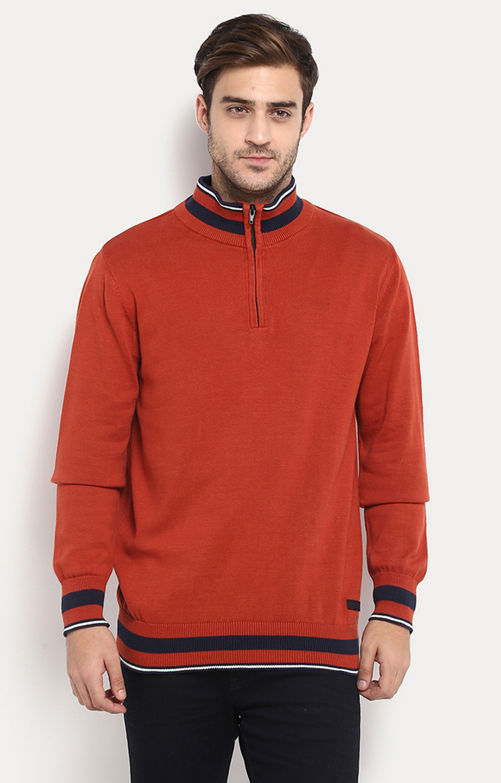 RED CHIEF | Rust Solid Sweater