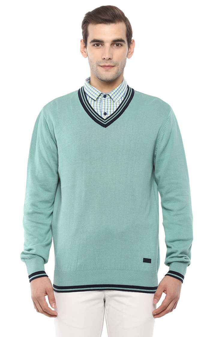 RED CHIEF | Aqua Solid Sweater