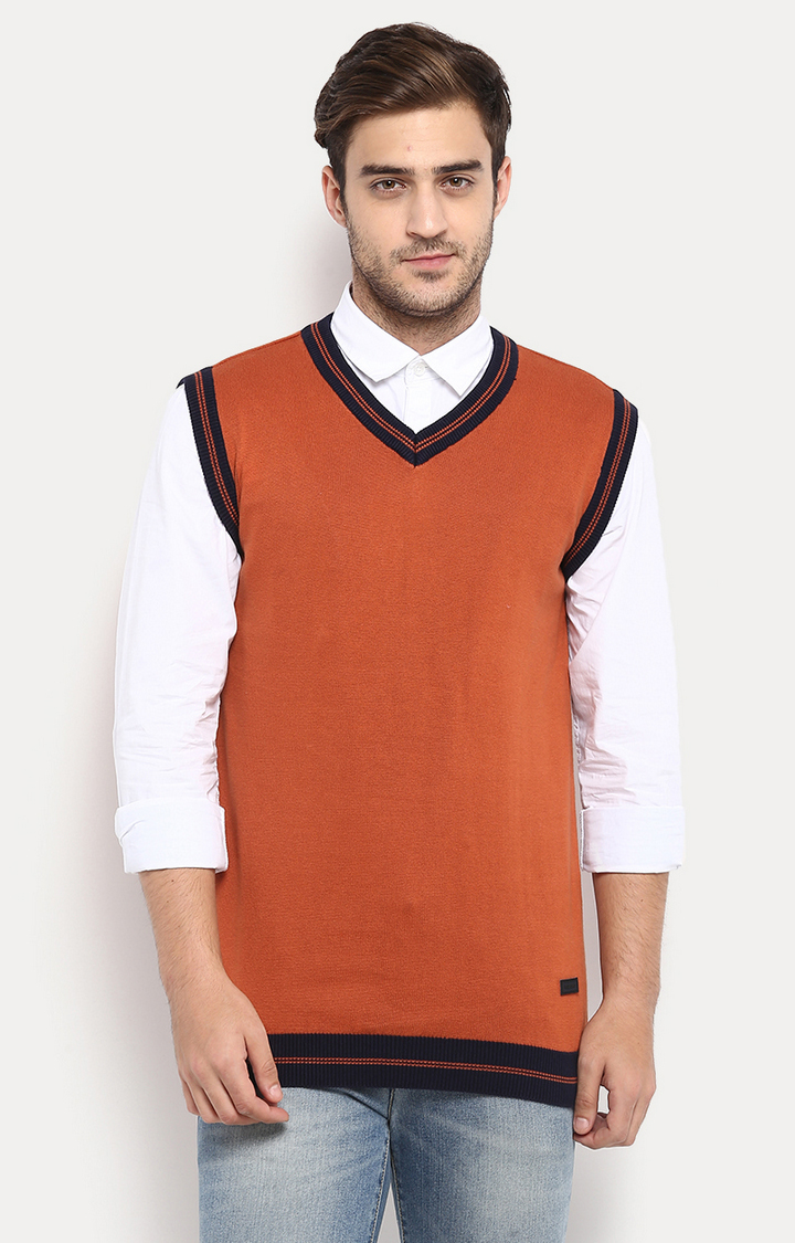 RED CHIEF   Rust Solid Sweater