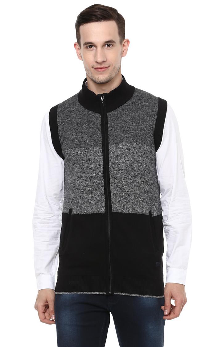 RED CHIEF | Grey Colourblock Sweater