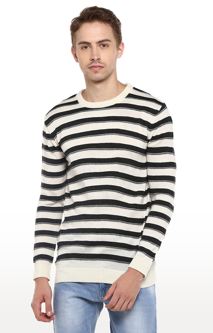 RED CHIEF | Black Striped Sweater
