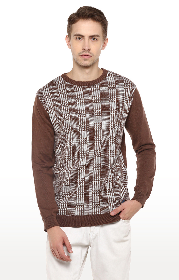 RED CHIEF | Brown Checked Sweater