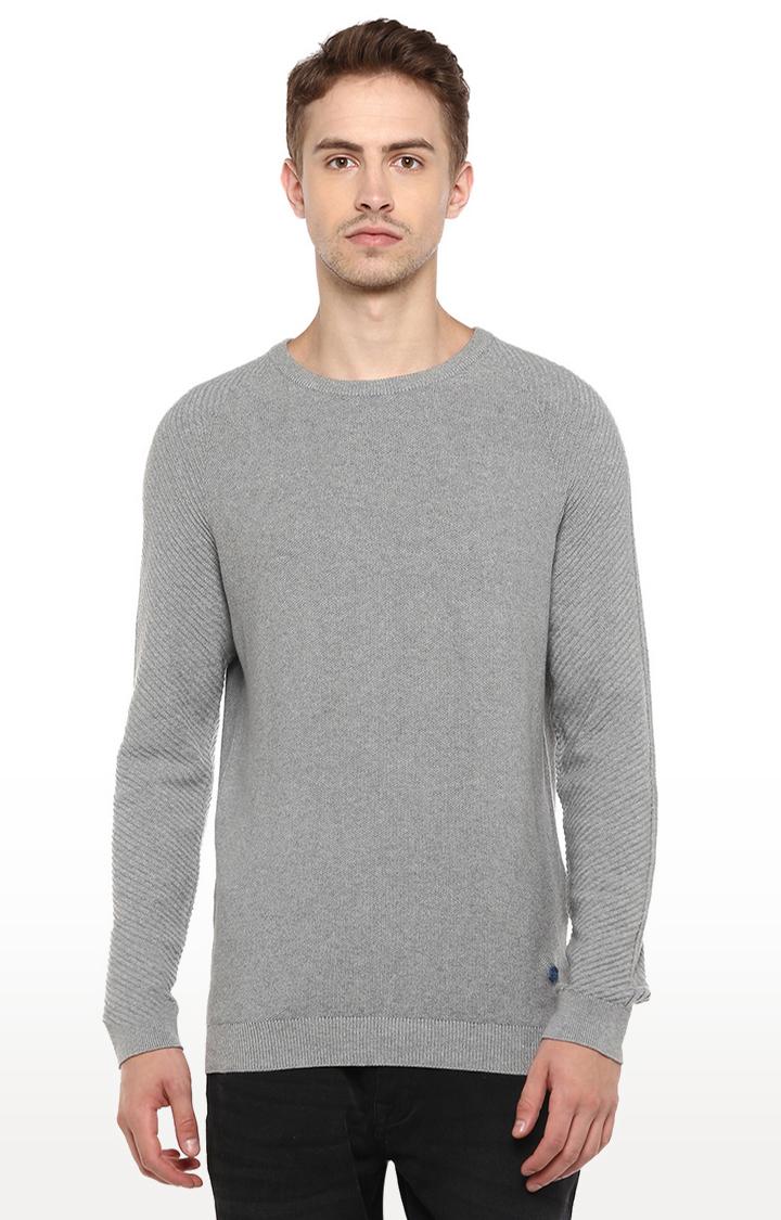 RED CHIEF | Grey Melange Sweater