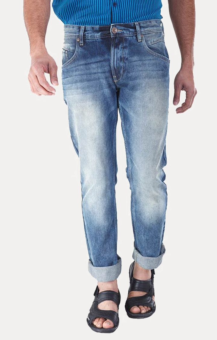 RED CHIEF | Tint Blue Washed Straight Jeans