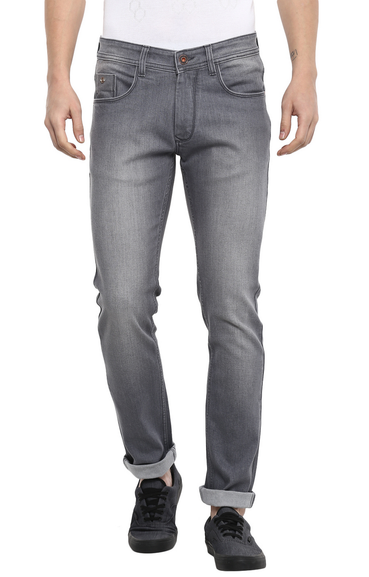 RED CHIEF | Grey Solid Straight Jeans