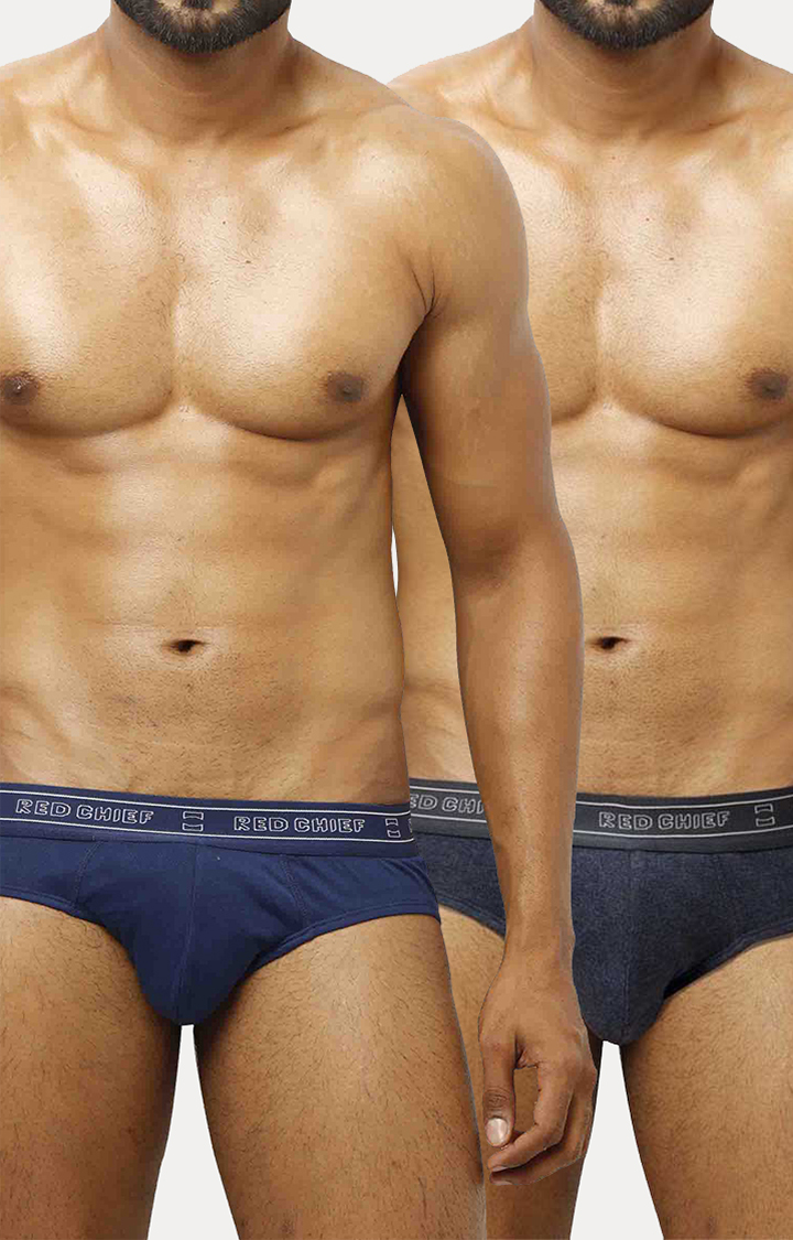 RED CHIEF | Blue Briefs - Pack of 2