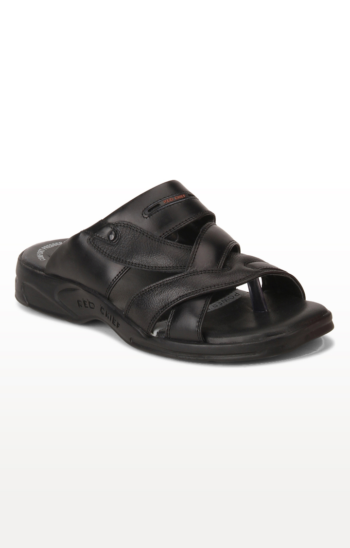 RED CHIEF | RC0593 001 -  Black Sandals