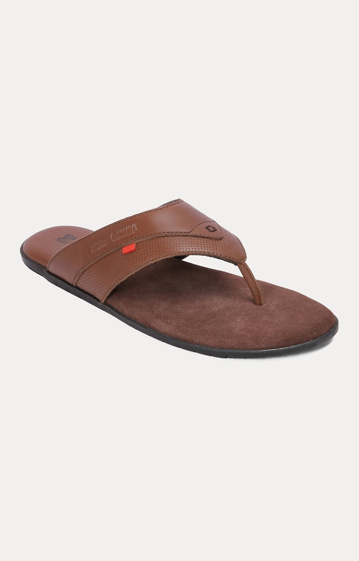 RED CHIEF | RCOF8005 003 - Brown Slippers